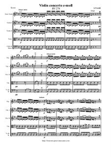 Violin concerto e-moll, RV 278: Violin concerto e-moll by Antonio Vivaldi