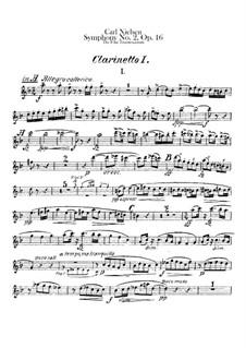 Sinfonie Nr.2 'Die vier Temperamente', FS 29 Op.16: Klarinettenstimmen I-II by Carl Nielsen