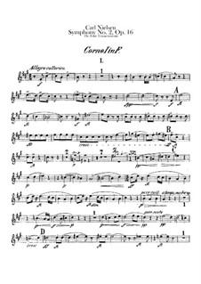 Sinfonie Nr.2 'Die vier Temperamente', FS 29 Op.16: Hornstimmen I-II by Carl Nielsen