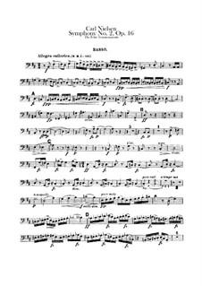 Sinfonie Nr.2 'Die vier Temperamente', FS 29 Op.16: Kontrabass-Stimme by Carl Nielsen