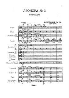 Leonore. Ouvertüre No.3, Op.72b: Partitur by Ludwig van Beethoven
