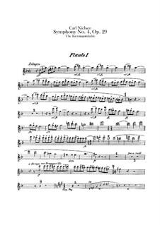 Sinfonie Nr.4 'Das Unauslöschliche', FS 76 Op.29: Flötenstimme by Carl Nielsen