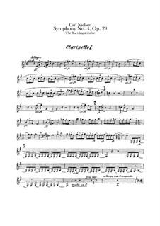 Sinfonie Nr.4 'Das Unauslöschliche', FS 76 Op.29: Klarinettenstimmen I-III by Carl Nielsen