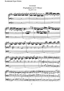 Werke für Organ: Für einen Interpreten, BuxWV 146-153 by Dietrich Buxtehude