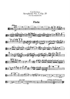 Sinfonie Nr.4 'Das Unauslöschliche', FS 76 Op.29: Violastimme by Carl Nielsen