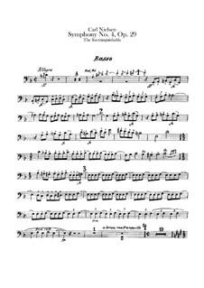 Sinfonie Nr.4 'Das Unauslöschliche', FS 76 Op.29: Kontrabass-Stimme by Carl Nielsen