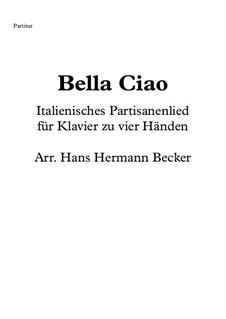 Bella ciao: Für Klavier zu vier Händen by folklore
