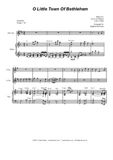 O Little Town of Bethlehem: For Duet for Soprano and Alto Saxophone by Lewis Henry Redner