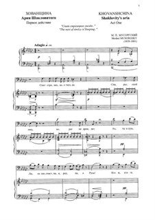 Fragmente: Спит стрелецкое гнездо. Ария Шакловитого by Modest Mussorgski