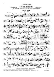 Fünf Stücke, Op.15: Nr.3 Ständchen – Stimme by August Nölck