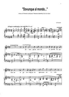 Madama Butterfly : Dovunque al mondo... Arioso di Pinkerton by Giacomo Puccini