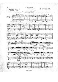 Blaubart: Klarinettenstimme by Jacques Offenbach
