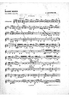 Blaubart: Violinstimme II by Jacques Offenbach