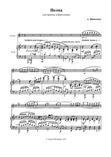 Poem for violin and piano: Poem for violin and piano by Alexey Shinkevich