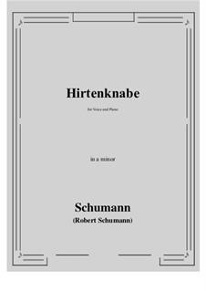 Hirtenknabe: A minor by Robert Schumann