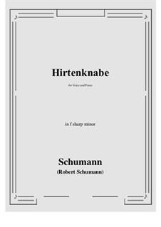 Hirtenknabe: F sharp minor by Robert Schumann