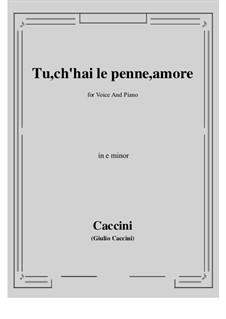 Tu, ch'hai le penne, Amore: E minor by Giulio Caccini
