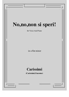 No, no, non si speri: A flat minor by Giacomo Carissimi