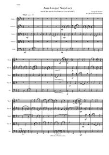 Aura Lee: Streichquartett by George R. Poulton