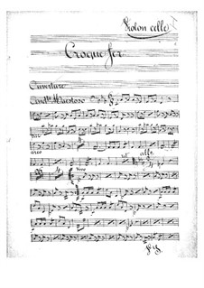 Croquefer: Cellosstimme by Jacques Offenbach