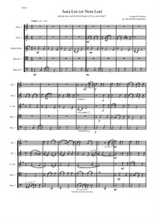 Aura Lee: For double-reed quintet by George R. Poulton