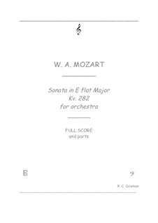 Sonate für Klavier Nr.4 in Es-Dur, K.282: Orchestra transcription by Wolfgang Amadeus Mozart