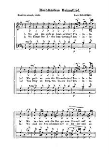 Hochländers Heimatlied: Hochländers Heimatlied by Friedrich Oelschläger