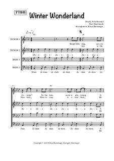 Winter Wonderland: Singpartitur by Felix Bernard