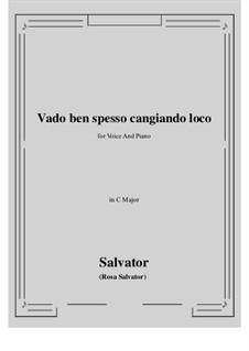 Vado ben spesso cangiando loco: C-Dur by Salvator Rosa