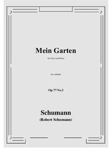 Lieder und Gesänge, Op.77: No.2 Mein Garten (c minor) by Robert Schumann