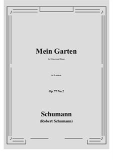 Lieder und Gesänge, Op.77: No.2 Mein Garten (b minor) by Robert Schumann