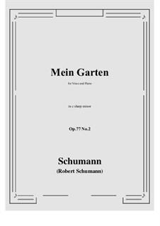 Lieder und Gesänge, Op.77: No.2 Mein Garten (c sharp minor) by Robert Schumann