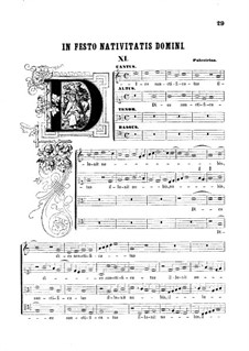 Dies sanctificatus: Singpartitur by Giovanni da Palestrina