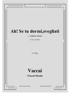 Julia und Romeo: Ah! Se tu dormi, svegliati (F Major) by Nicola Vaccai