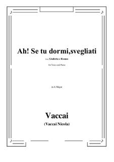 Julia und Romeo: Ah! Se tu dormi, svegliati (A Major) by Nicola Vaccai