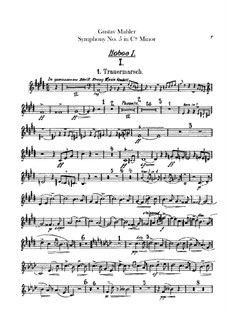 Sinfonie Nr.5 in cis-Moll: Oboenstimmen by Gustav Mahler