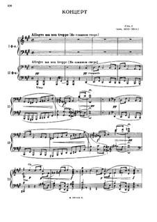 Konzert für Konzert und Orchester Nr.1 in fis-Moll, Op.1: Bearbeitung für zwei Klaviere, vierhändig by Mily Balakirev