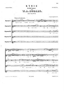 Kyrie in G-Dur, K.89: Singpartitur by Wolfgang Amadeus Mozart