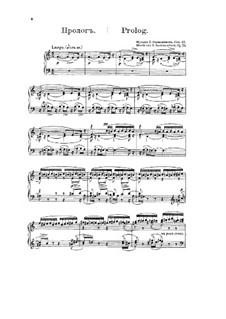 Francesca da Rimini, Op.25: For voices, choir and piano by Sergei Rachmaninoff
