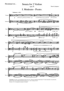 Sonate für zwei Violinen c-moll, Op.2: Sonate für zwei Violinen c-moll by ld_blue