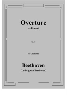 Egmont, Op.84: Vollpartitur by Ludwig van Beethoven