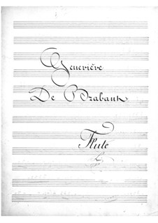Geneviève de Brabant: Flötenstimme by Jacques Offenbach