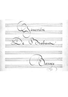 Geneviève de Brabant: Cello- und Kontrabass-Stimme by Jacques Offenbach