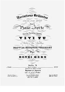 Variations brillantes d'une Coupe nouvelle, Op.78: Für Klavier by Henri Herz