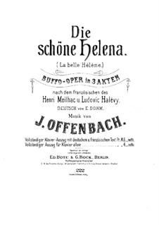 La belle Hélène (Die schöne Helena): Für Klavier by Jacques Offenbach