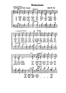 Waldandacht: Für Chor by Franz Wilhelm Abt