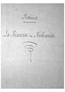 La princesse de Trébizonde (Die Prinzessin von Trapezunt): Kornettenstimme by Jacques Offenbach