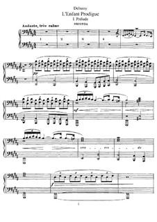 Der verlorene Sohn, L.57: Für Klavier, vierhändig by Claude Debussy