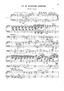 Messe in D-Dur, Op.10: Nr.10-12, für Solisten, Chor und Klavier by John Knowles Paine