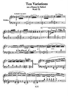 Zehn Variationen über Thema 'La stessa, la stessissima' aus 'Falstaff' von Salieris, WoO 73: Für Klavier by Ludwig van Beethoven